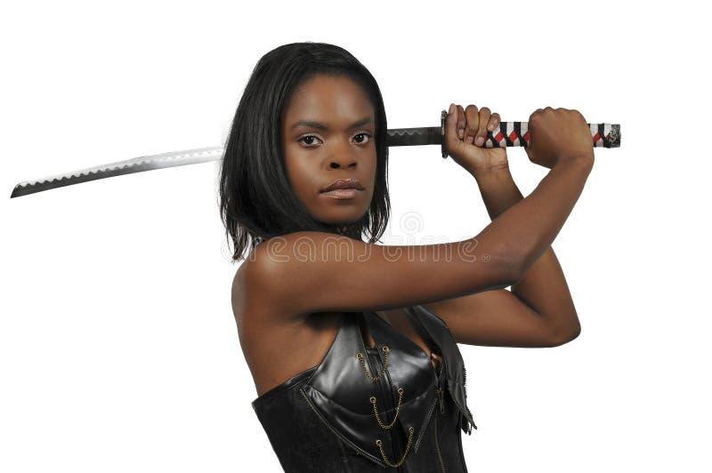 Woman Samurai Swordsman royalty free stock photography