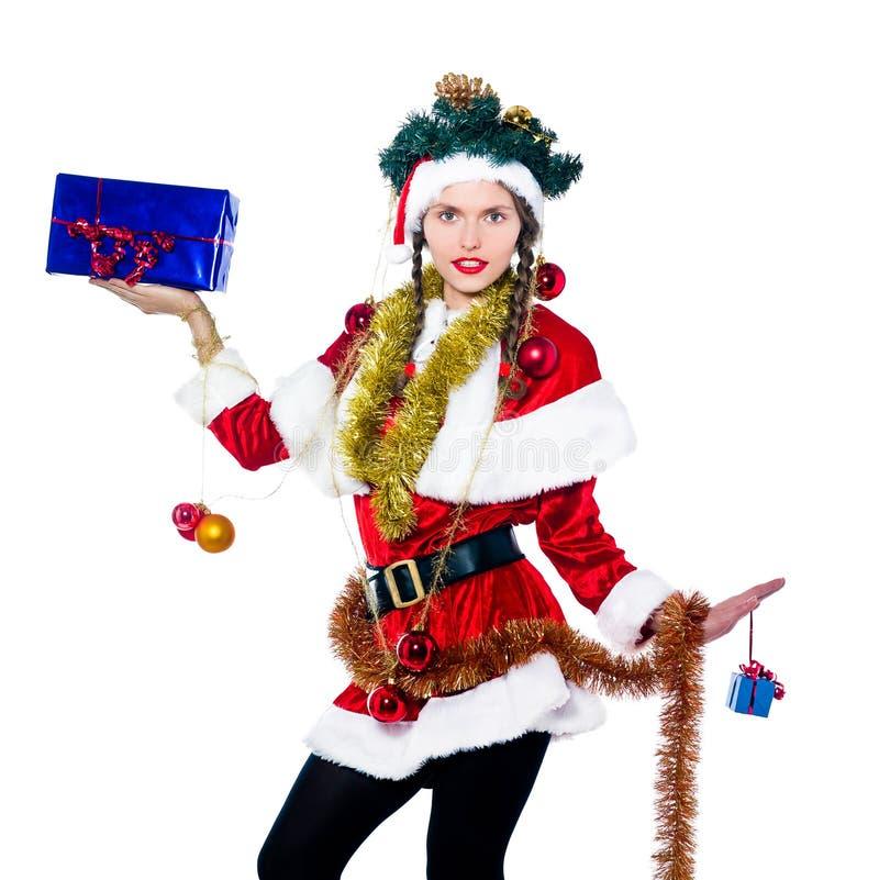 Download Woman Santa Claus Christmas Tree Stock Photo - Image: 21271102