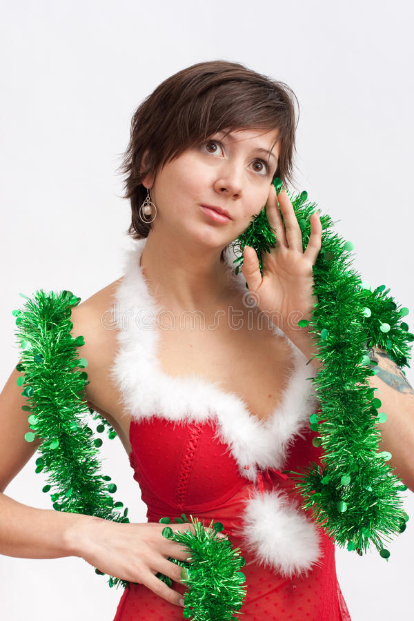 Download Woman In Santa Dress With Spangle Stock Photo - Image: 17294732