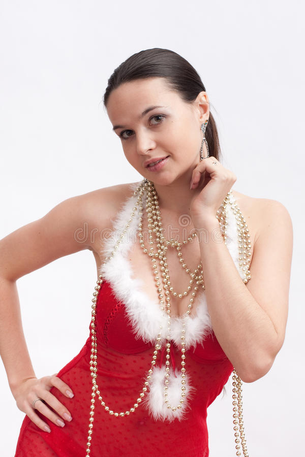 Download Woman In Santa Dress With Spangle Stock Photo - Image: 17297466