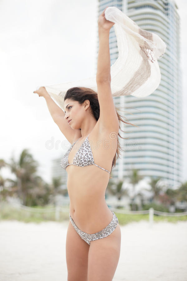 Download Woman with a sarong stock image. Image of building, single - 15165113