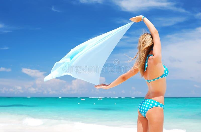 Woman with sarong stock photography