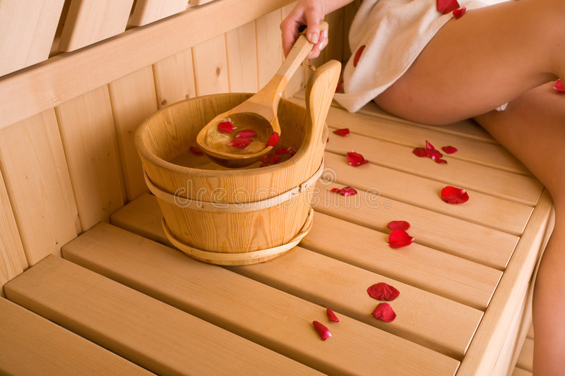 Download Woman and sauna stock photo. Image of comfort, lifestyle - 4830218