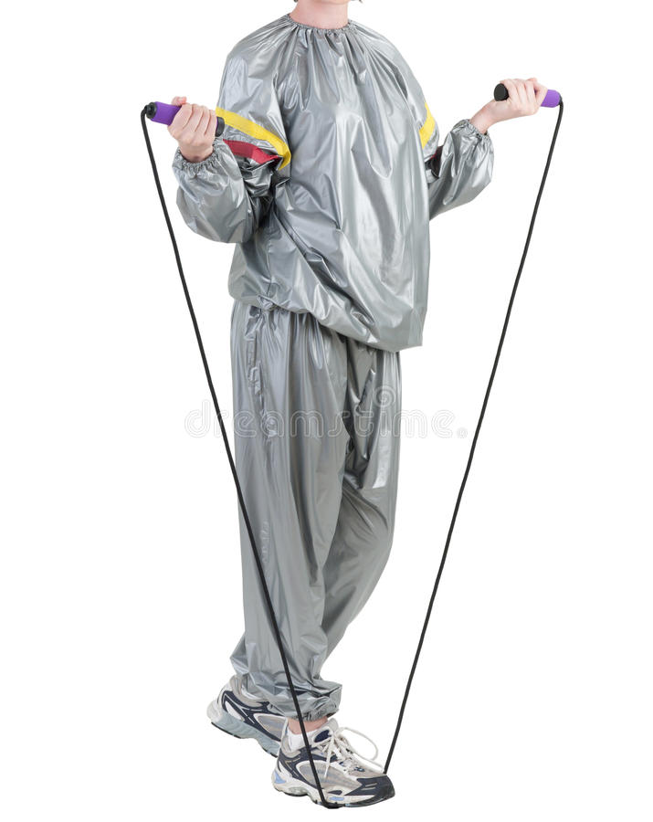 Download Woman in sauna suit stock image. Image of recreation - 25286839