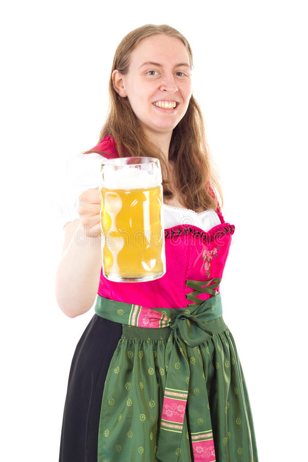 Woman Saying Cheers To You Royalty Free Stock Photo