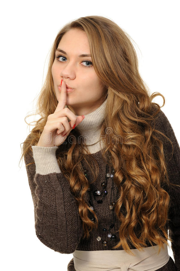 Woman Says Ssshhh Stock Photography
