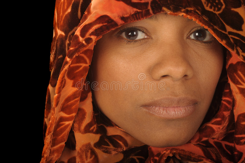 Woman in Scarf stock image