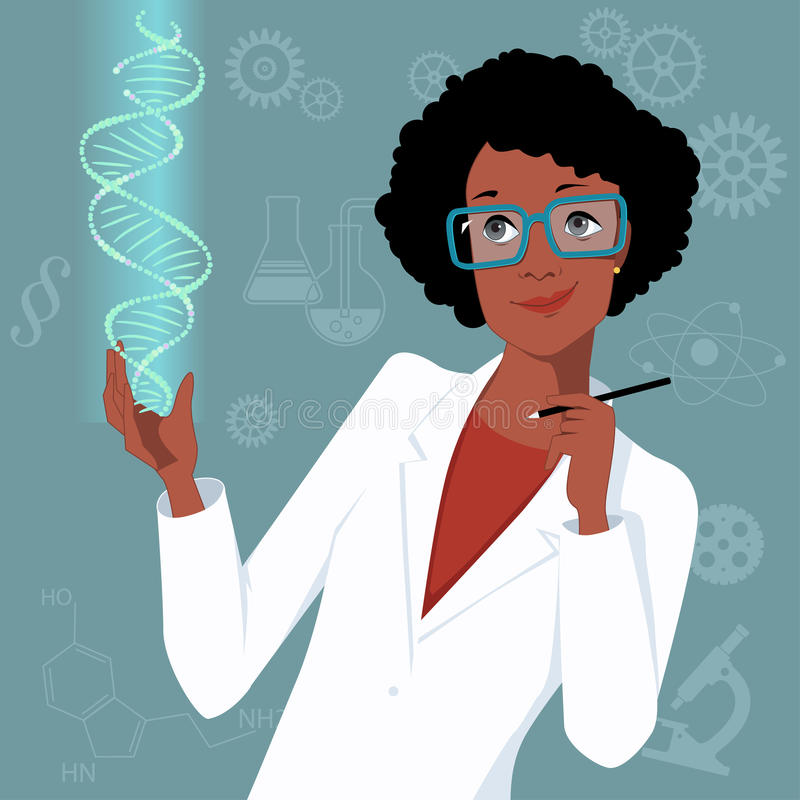 Woman in science vector illustration