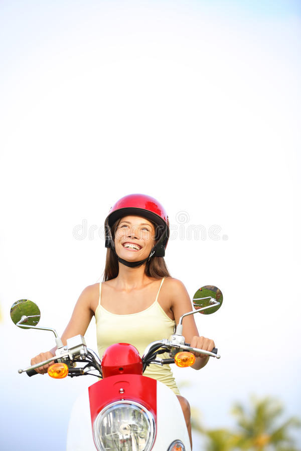 Download Woman On Scooter Thinking Looking Stock Image - Image: 28997775