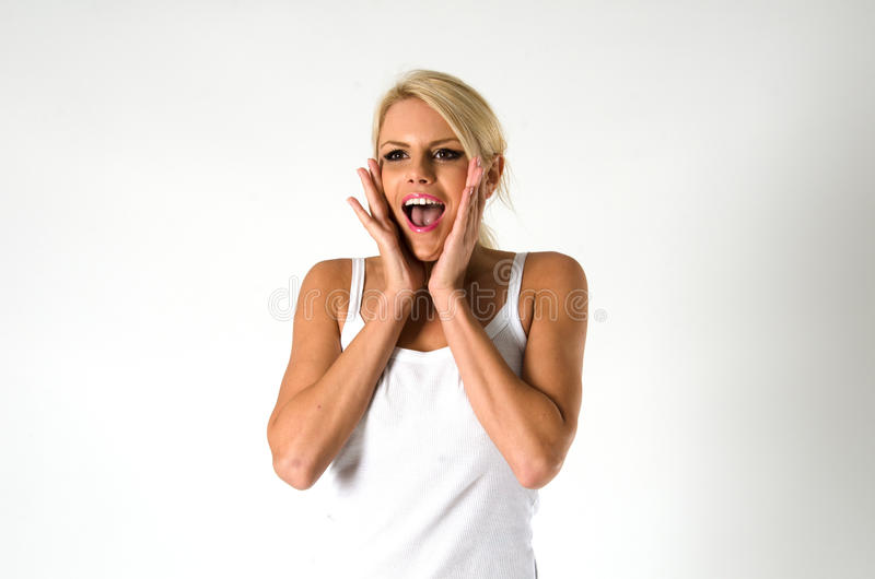 Download Woman screaming stock image. Image of news, amazed, model - 28875869