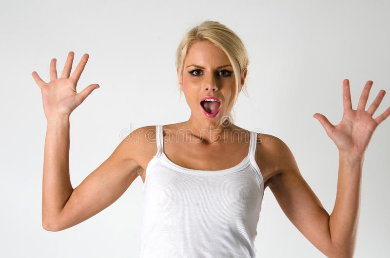 Download Woman screaming stock image. Image of attractive, female - 28875873