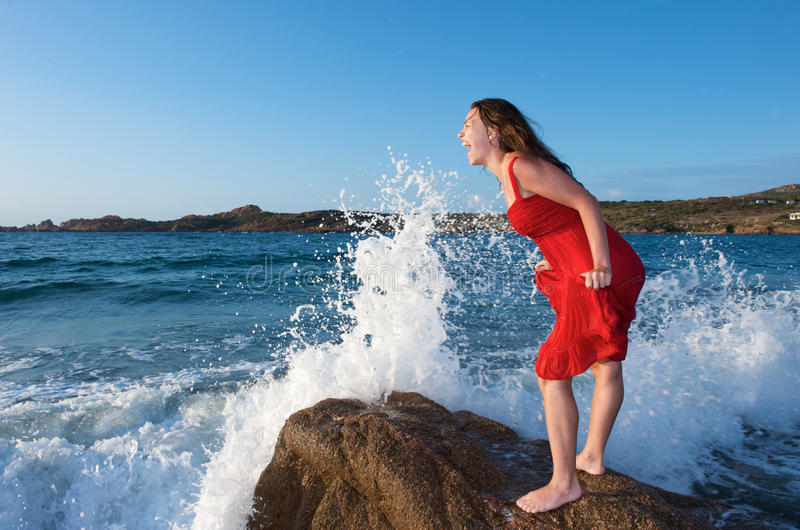 Download Woman Screaming On The Beach Stock Image - Image: 10689971