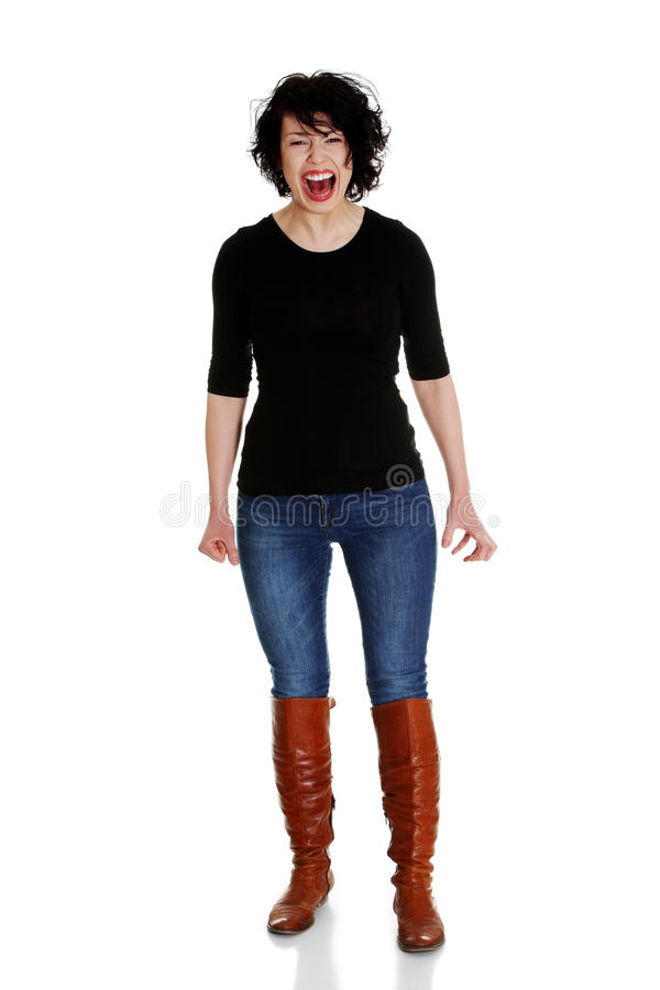 Download Woman Is Screaming Out Loud Stock Image - Image: 24101377