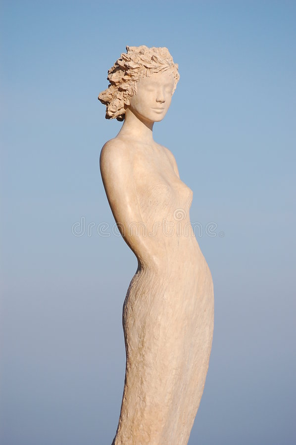 Woman sculpture ifromeze stock image