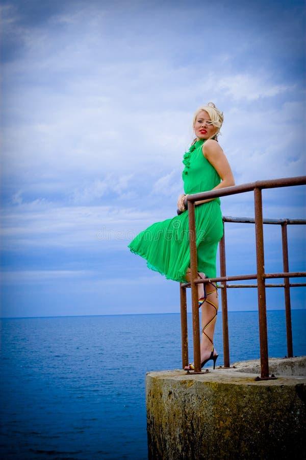 Download Woman at sea stock photo. Image of graceful, ocean, caucasian - 6201272