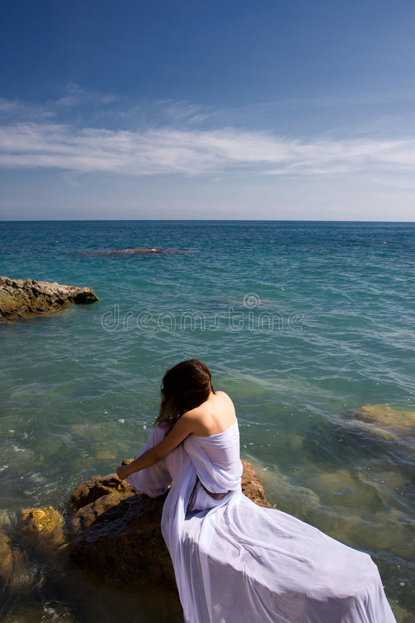 Download Woman And Sea Beach Stock Photos - Image: 12431733