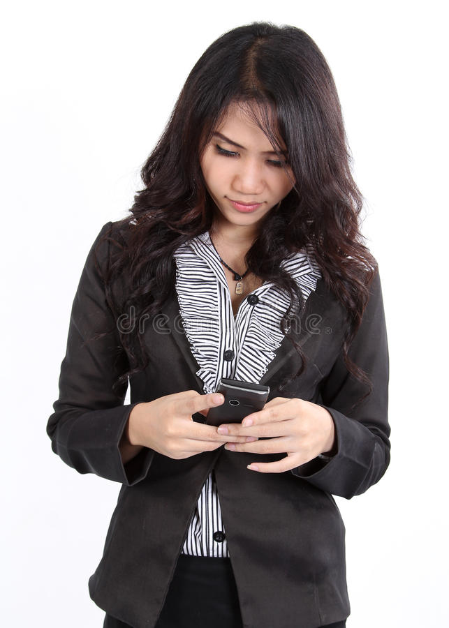 Download Woman search phone stock image. Image of communication - 27604637