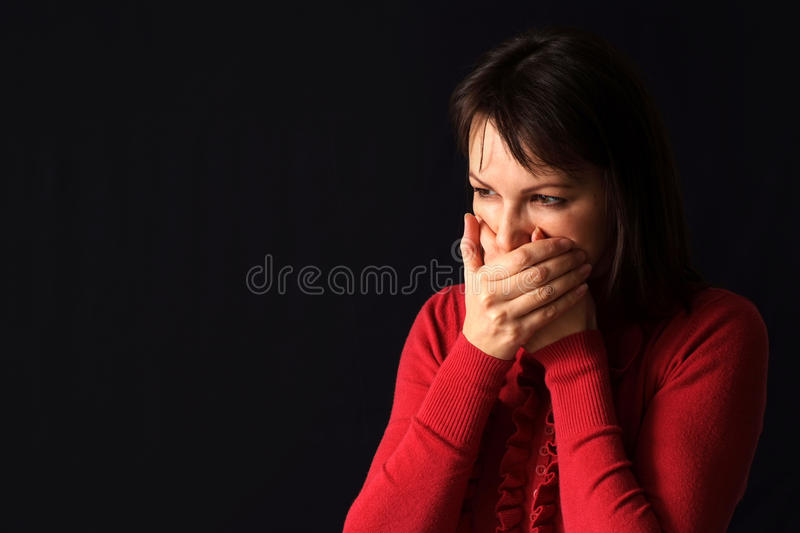 Download The woman seated problems stock photo. Image of people - 23645928