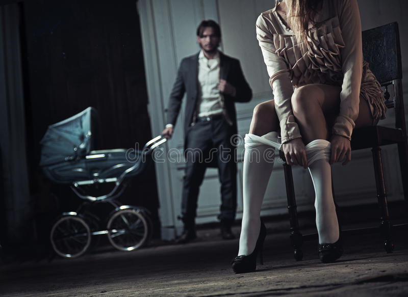 Download Woman seduces her husband stock image. Image of father - 22836391