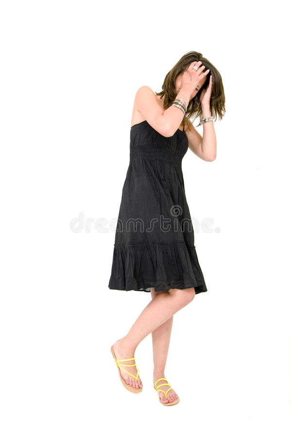 Woman - self aware royalty free stock image