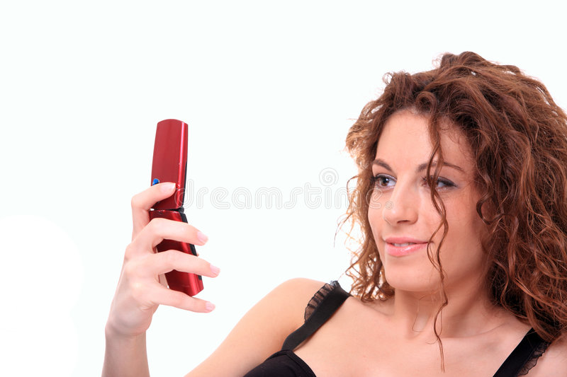Download Woman Sending Text Message stock image. Image of skin - 9215005