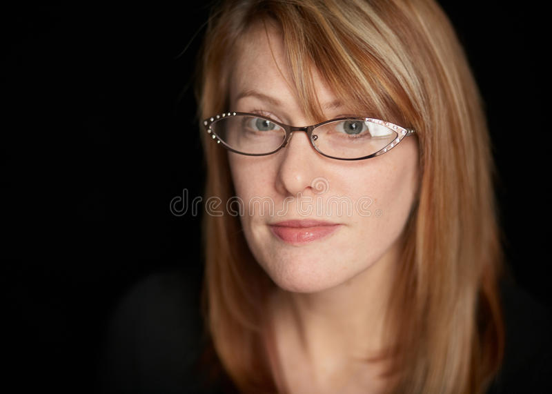 Woman With Serious Expression Stock Image