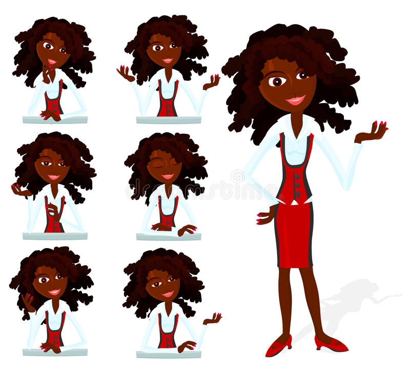 Woman_set 03 illustration stock