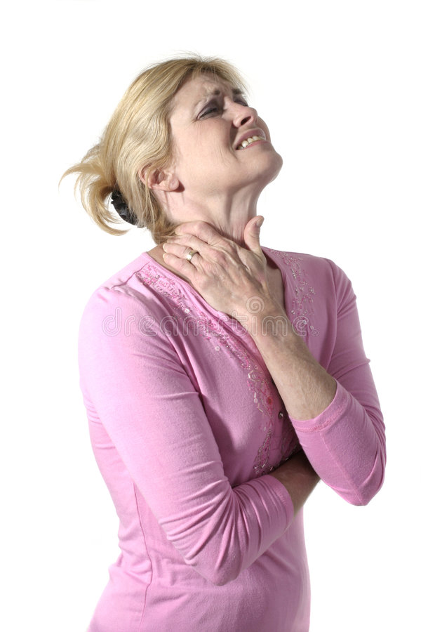 Woman With Severe Neck Pain 7 royalty free stock images