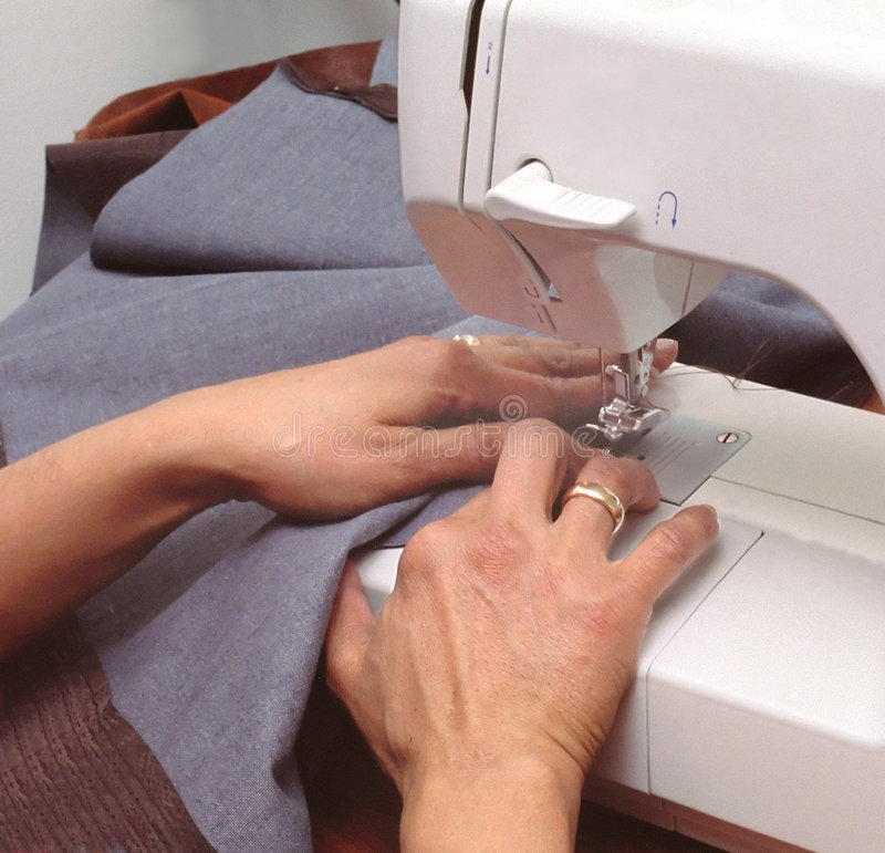 Free Woman Sewing Royalty Free Stock Image - 4443406