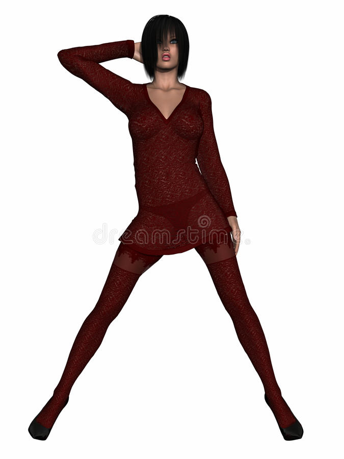 Woman With Clothing Royalty Free Stock Image