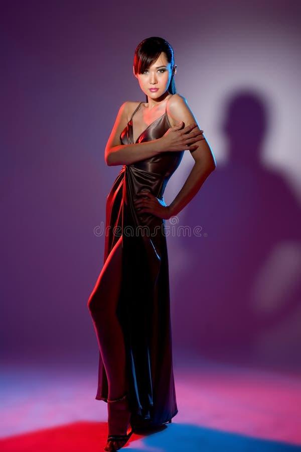 Woman in evening wear stock photo