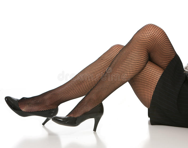 Lady with legs high heels royalty free stock image