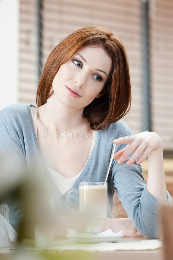 Download Woman with shake stock image. Image of adult, bistro - 26547893