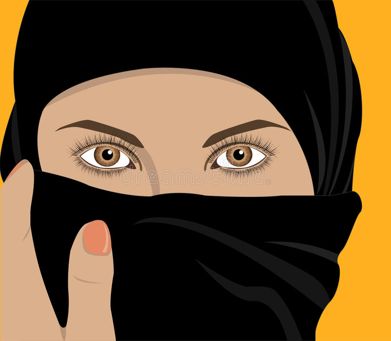 Download Woman with shawl stock vector. Image of caucasian, background - 21586900
