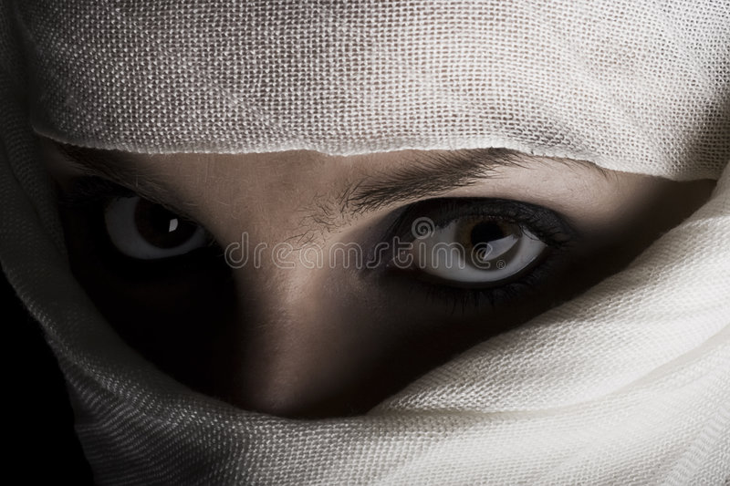 Download Woman with shawl on face stock photo. Image of afghanistan - 5179614