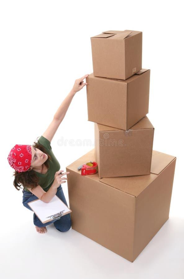 Woman Shipping royalty free stock photos
