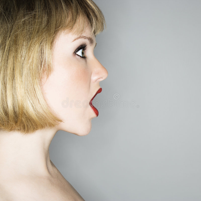 Download Woman in shock. stock image. Image of facial, color, mouth - 6149423