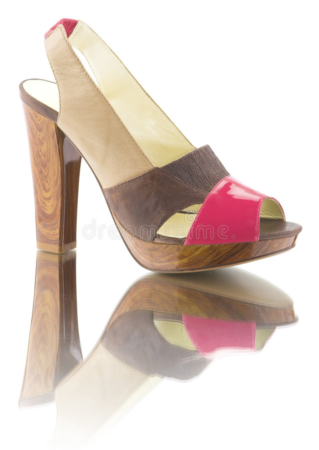 Woman shoe with reflection royalty free stock photos