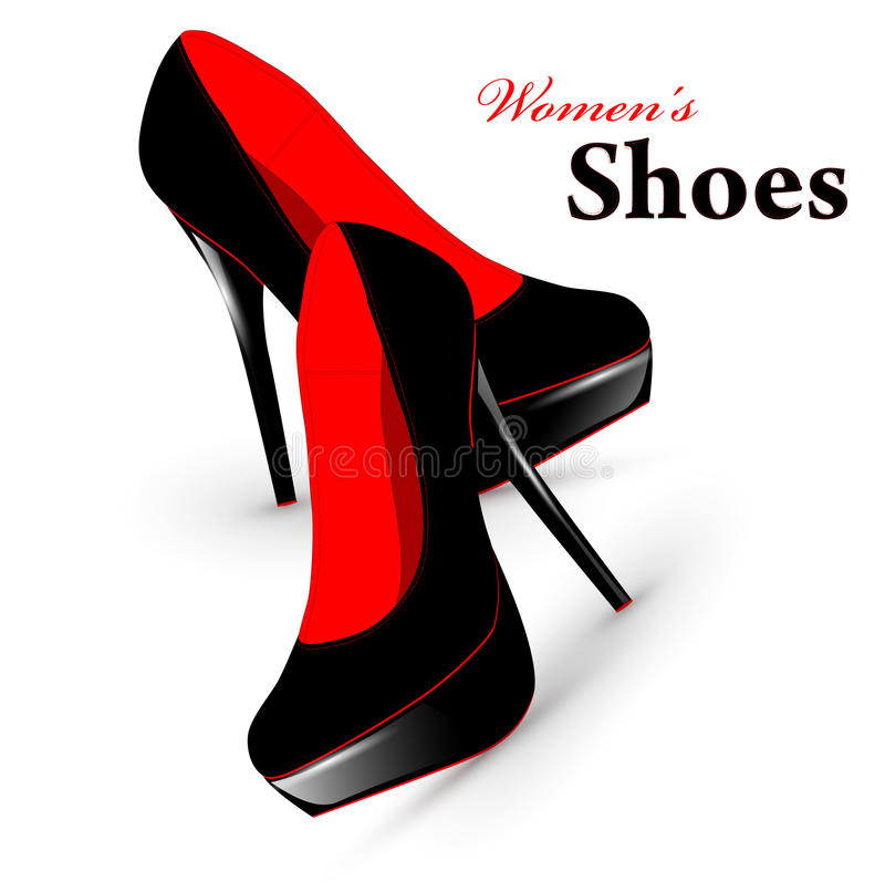 Woman shoes royalty free illustration