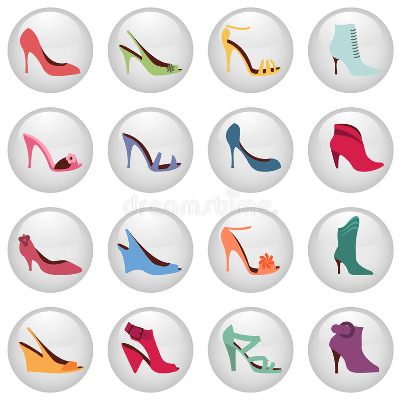 Download Woman Shoes Icon Stock Images - Image: 16318574