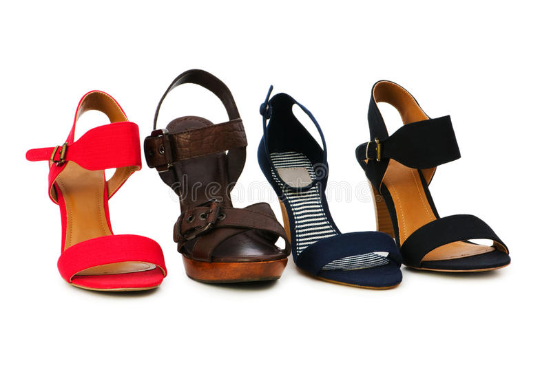 Woman shoes isolated royalty free stock image