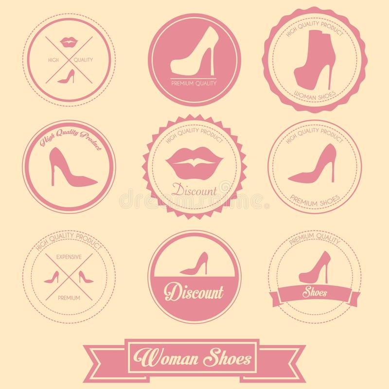 Download Woman Shoes Label Design stock illustration. Illustration of female - 39510396