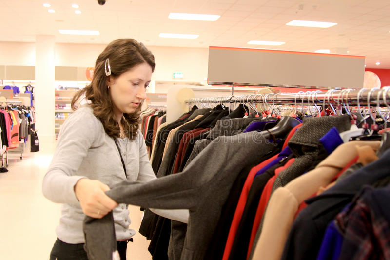 Download Woman in shop stock photo. Image of commerce, sales, pants - 26313294