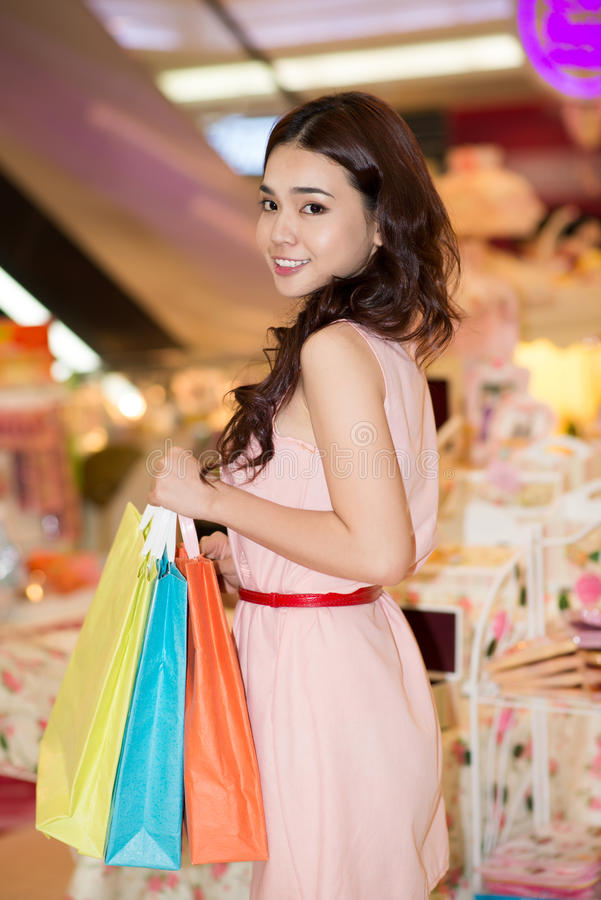 Download Woman in shop stock image. Image of glance, female, girl - 28055051