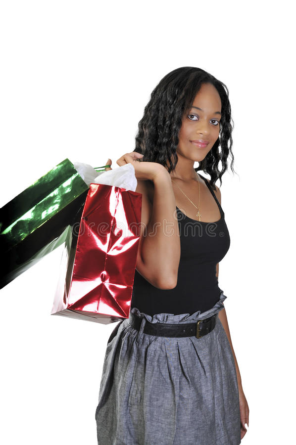 Download Woman Shopping stock photo. Image of holding, expression - 15247052