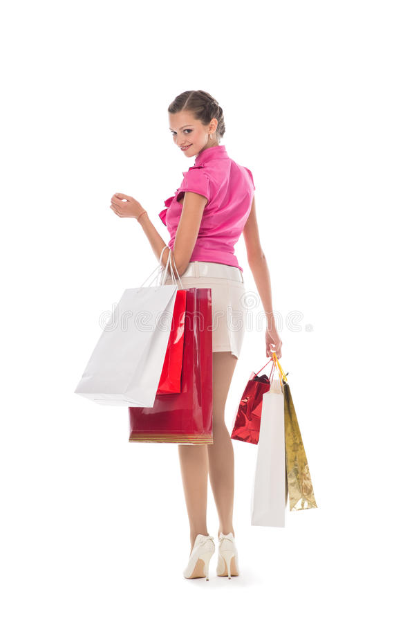 Download Woman at shopping stock photo. Image of female, isolated - 23821266