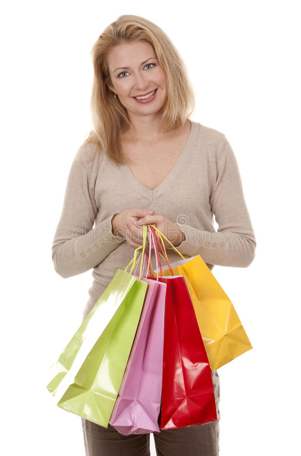 Download Woman shopping stock photo. Image of enjoyment, portrait - 27243702