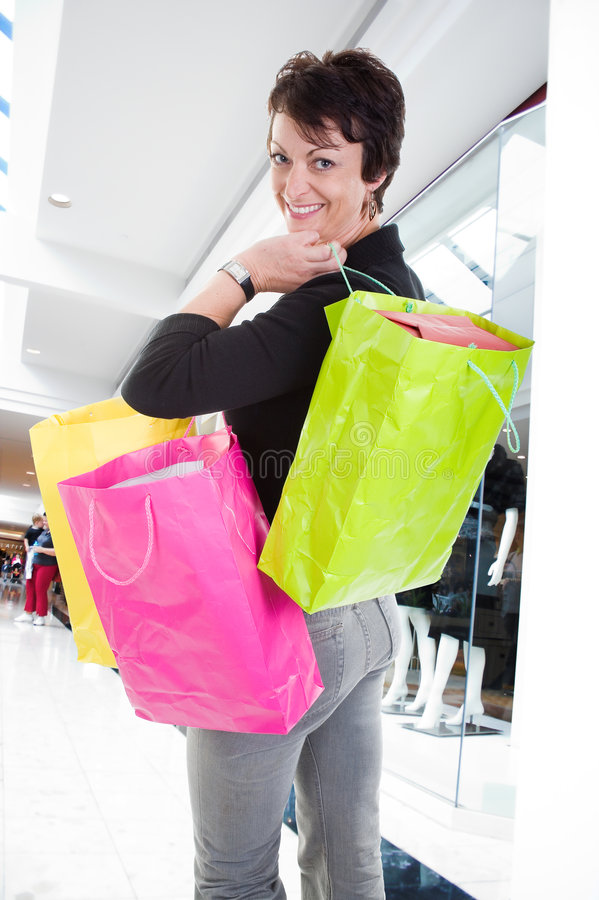 Download Woman shopping stock photo. Image of adult, gift, mall - 3468680