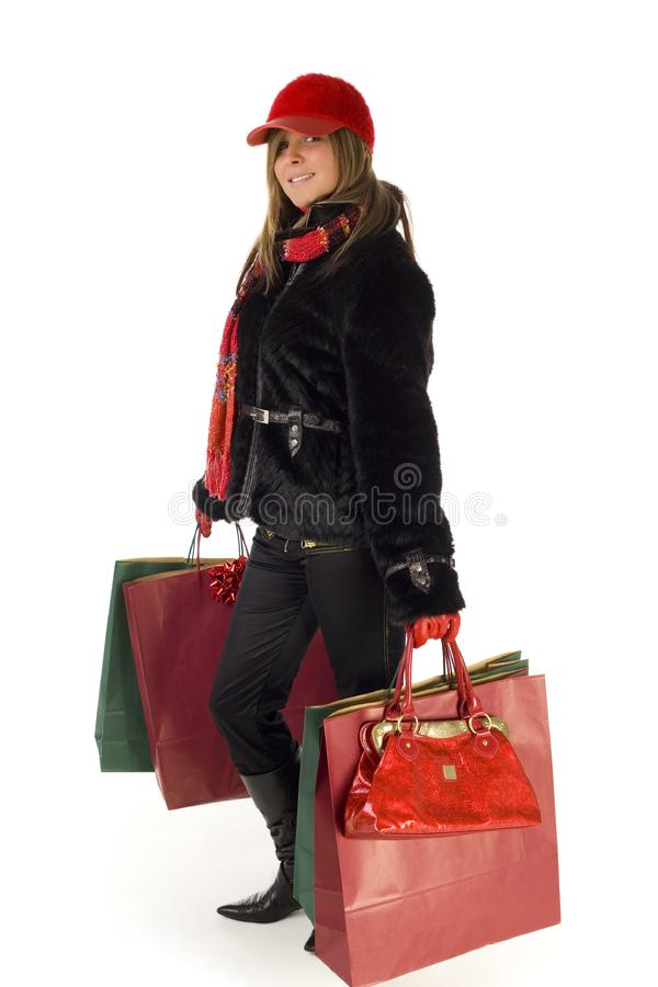 Woman in shopping royalty free stock photo