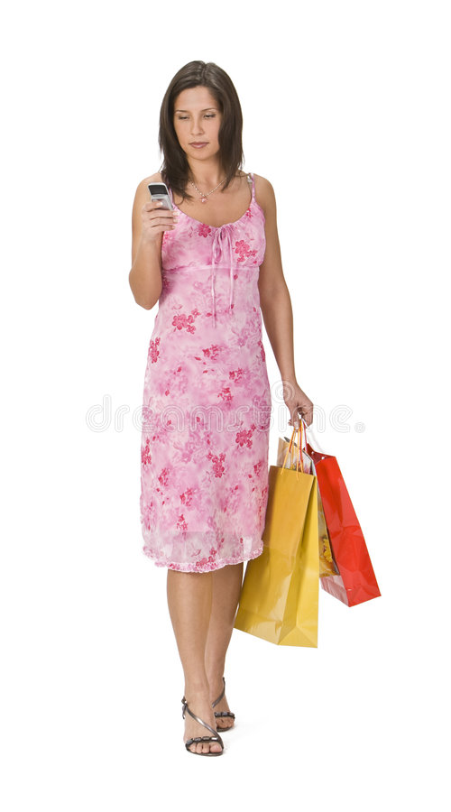 Download Woman shopping stock image. Image of dress, active, expression - 4012725